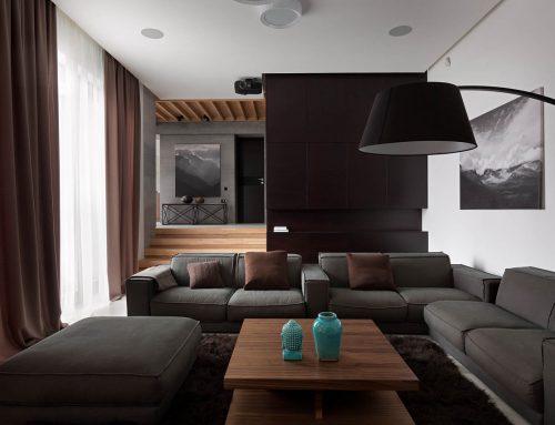 بازسازی یک سالن ویلایی بزرگ به خانه ایی متفاوت