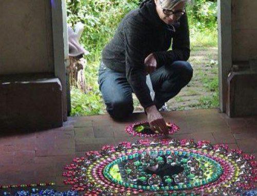 هنرنمایی زیبا و جالب با سنگ های تزیینی